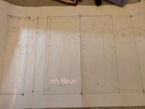 ブックカバーの製図